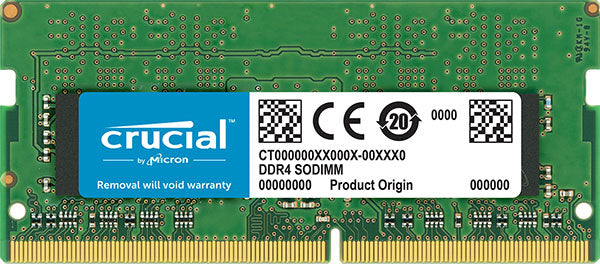 Crucial 16GB (1x16GB) DDR4 SODIMM 3200MHz CL22 Single Stick Notebook Laptop Memory RAM