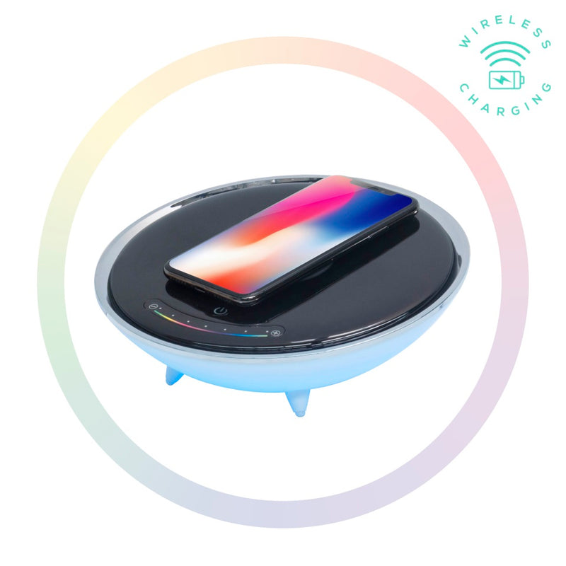 mbeat® Wireless Charging Station with RGB Colour Lighting Charging Stand