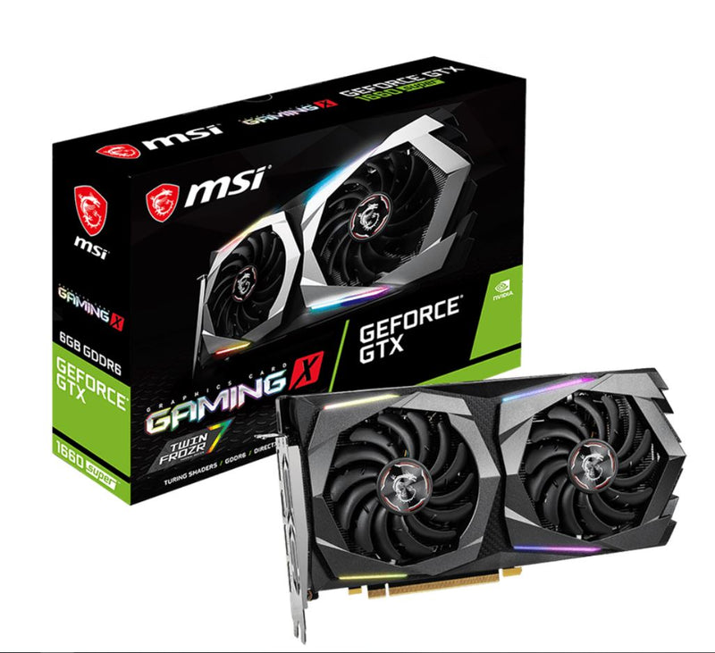 MSI nVidia Geforce GTX 1660 SUPER GAMING X 6GB GDDR6 7680 x4320 3xDP1.4 1xHDMI2.0b 1830 MHz TORX Fan 3.0 G-SYNC VR