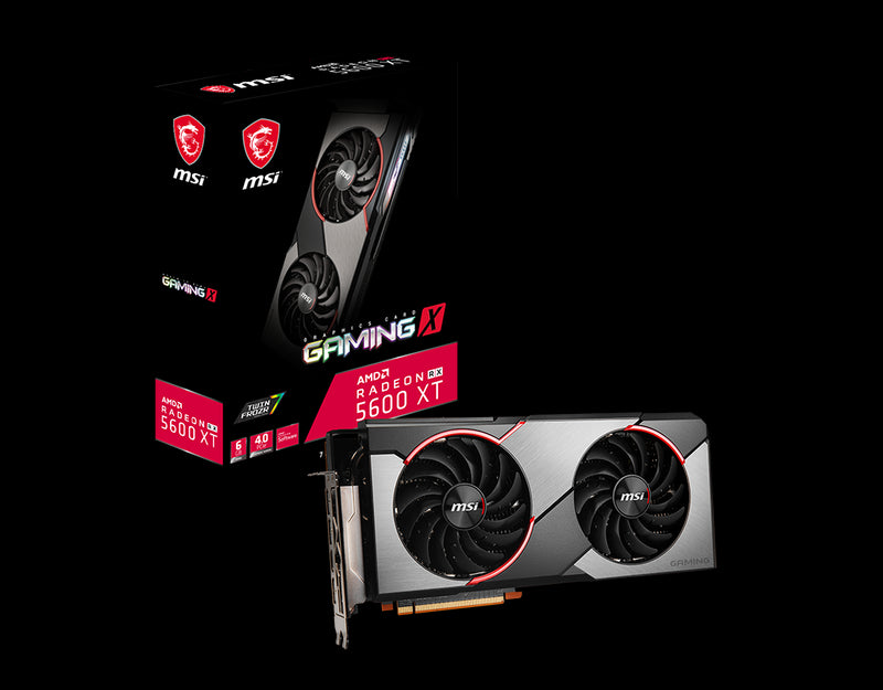 MSI AMD Radeon RX 5600 XT Gaming X 6GB GDDR6 PCIe 4.0 Graphics Card 7680x4320 4xDisplays 3xDP HDMI 1750 MHz 51nm TORX FAN3.0