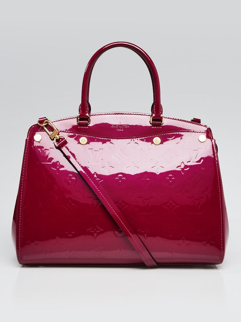 Louis Vuitton Magenta Monogram Vernis Brea MM NM Bag
