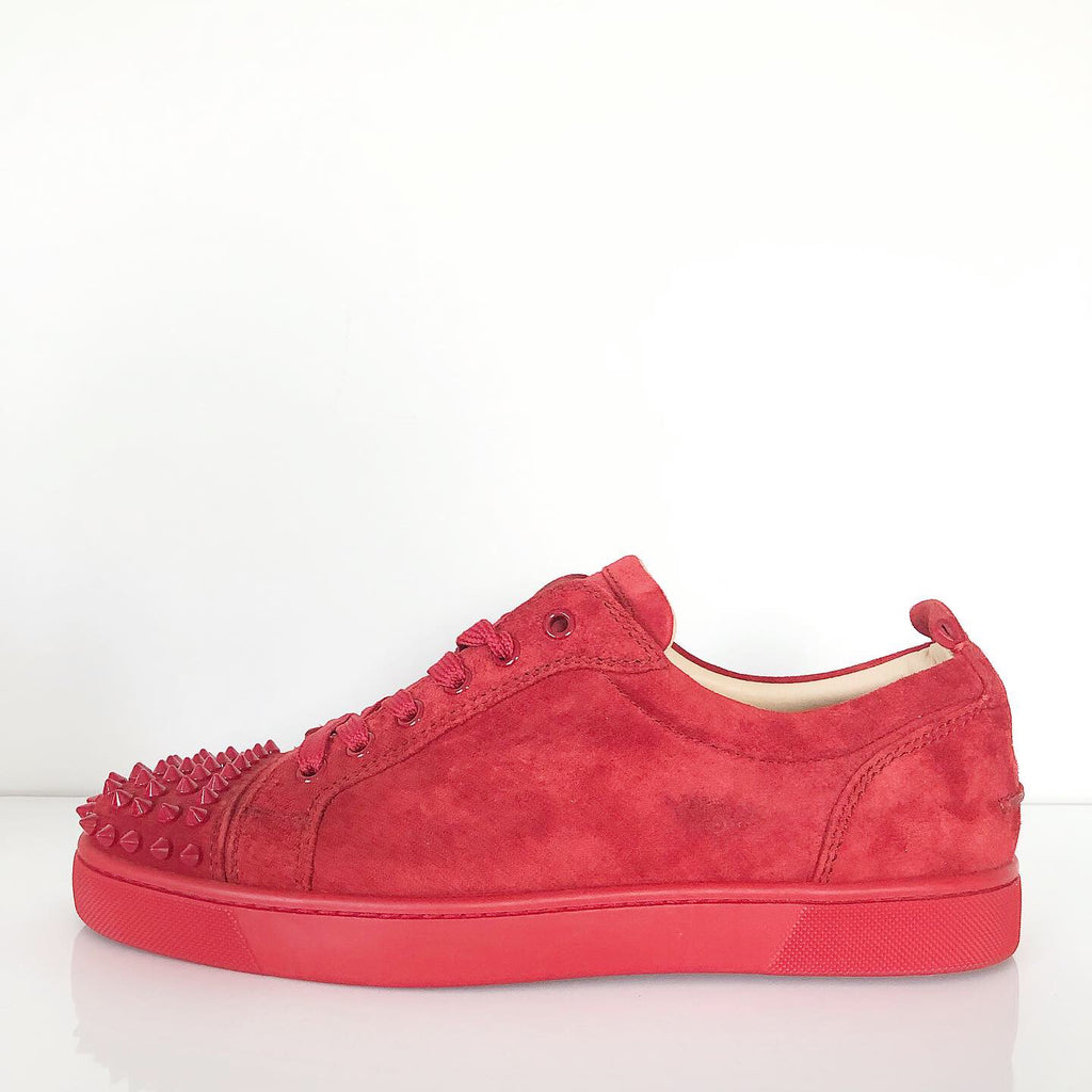 Christian Louboutin Men's Red Louis Junior Spike Sneaker