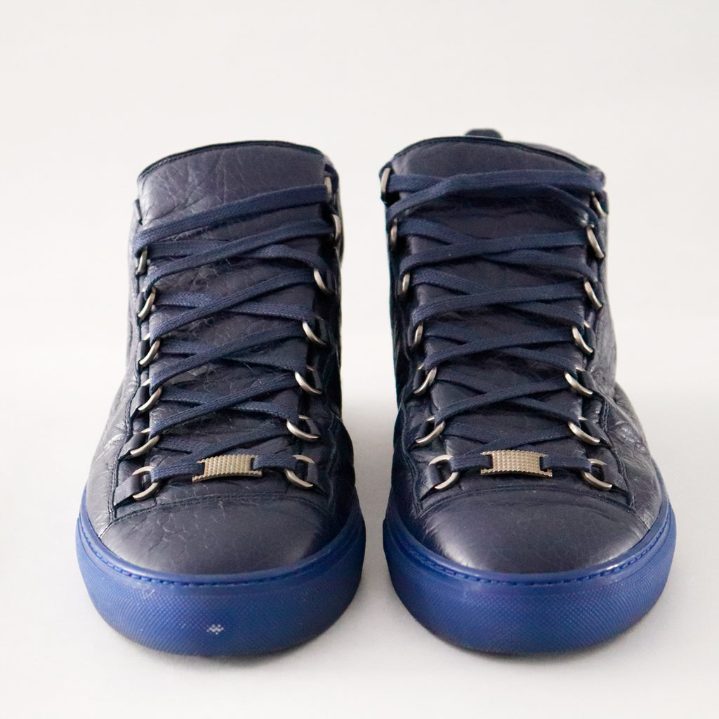 Balenciaga Arena Blue High Top Sneaker