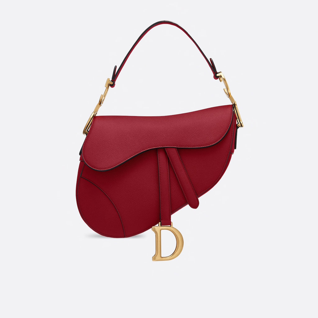 Dior Scarlett Red Saddle Calfskin Bag
