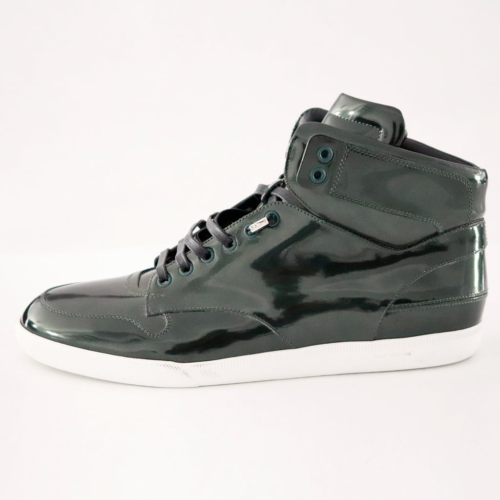 Dior Patent High Top Sneaker