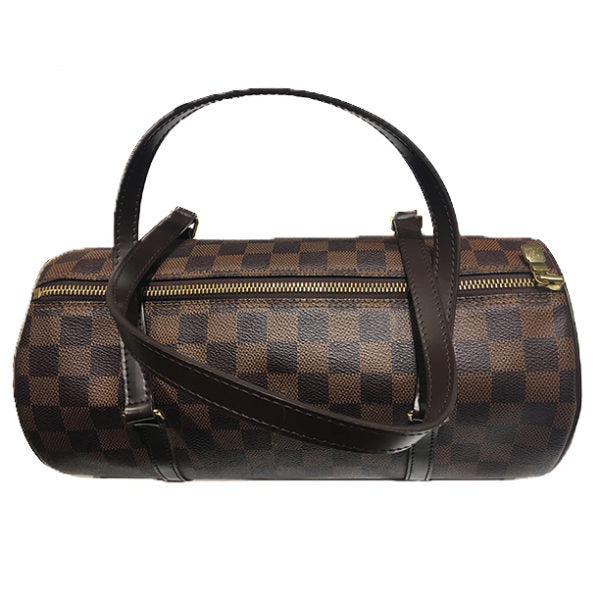 Louis Vuitton Papillon 26 Handbag Damier Ebene Canvas Leather
