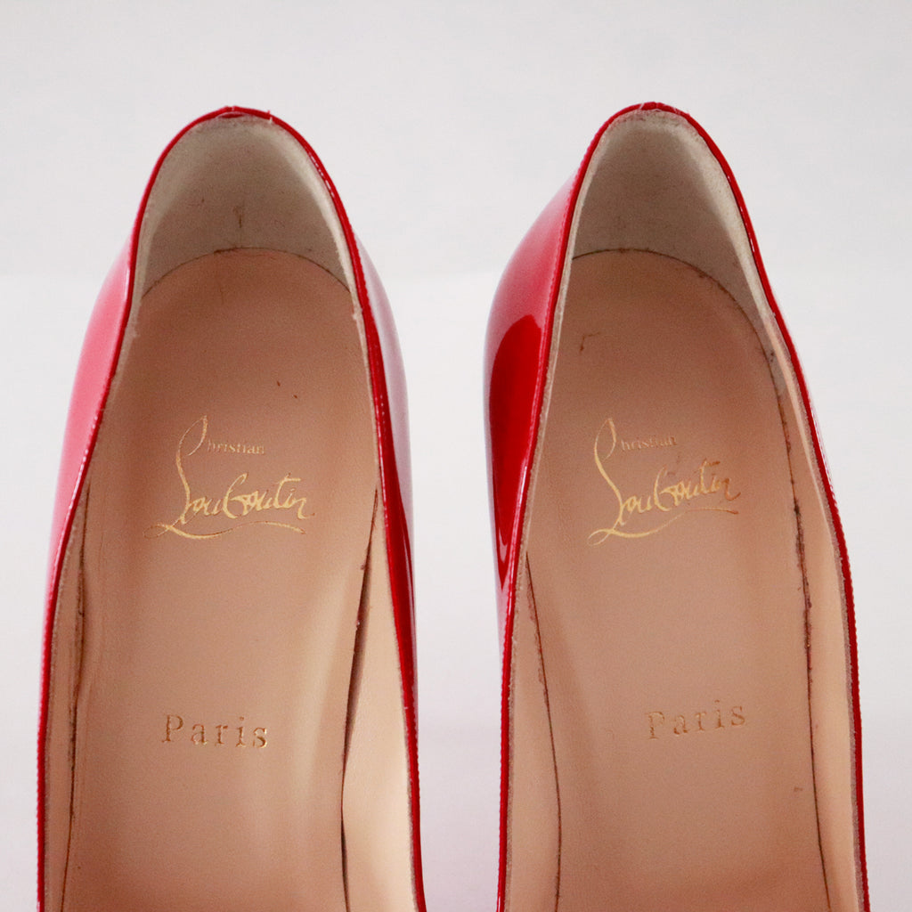 Christian Louboutin Red Pigalle Follies 100 Patent Pumps