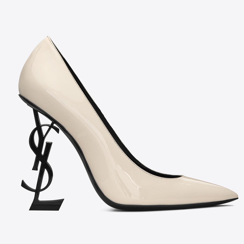 Saint Laurent Opyum Pumps With Black Heel in Patent Leather