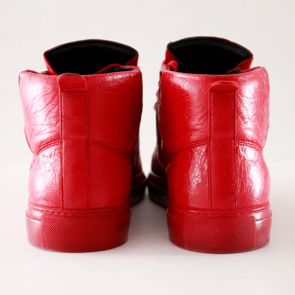 Balenciaga Arena High Top Red Sneaker