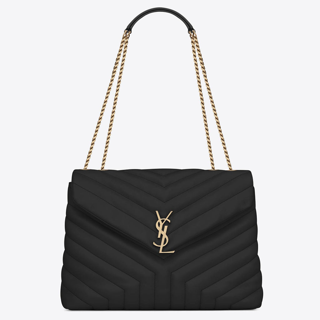 "Saint Laurent Loulou Medium In Metalassé ""Y"" leather bag"