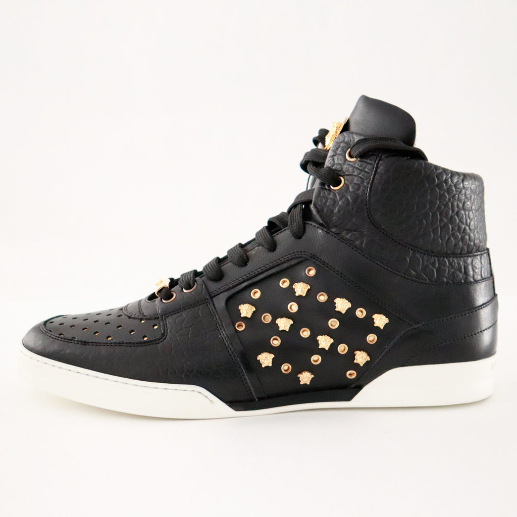Versace High Top Gold Stud Sneaker