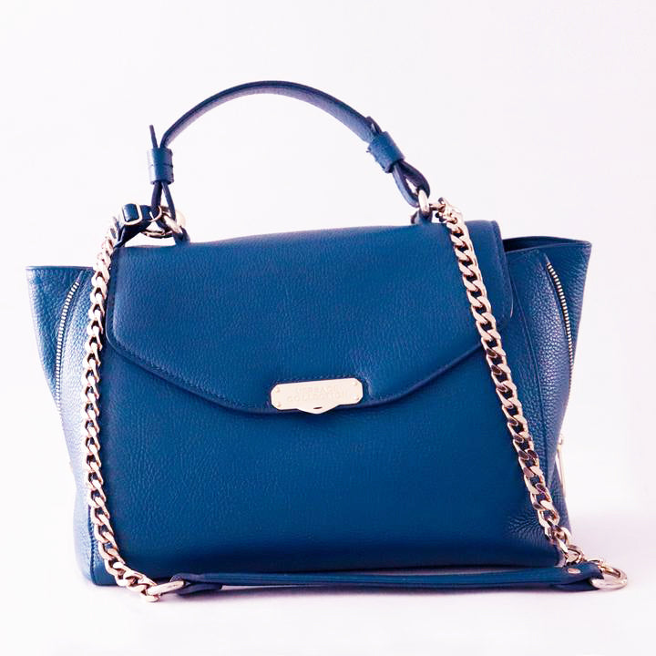 Versace Collection Cornflower Blue Leather Tote Bag