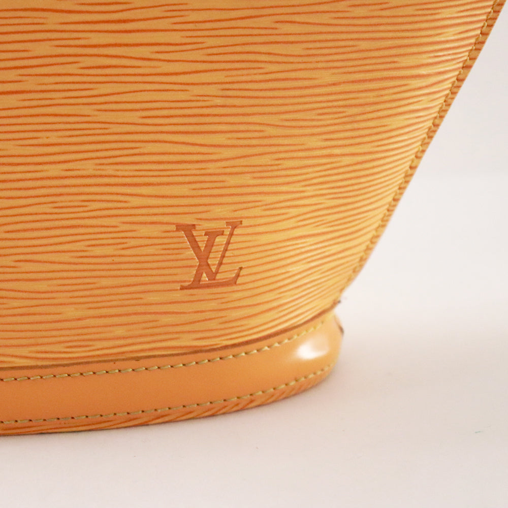 Louis Vuitton Yellow Epi Alma Handbag