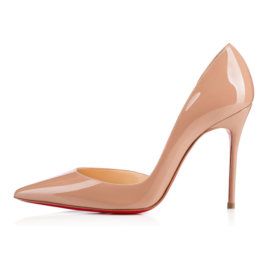 Christian Louboutin Iriza 100 Patent Leather Half D'Orsay Pumps