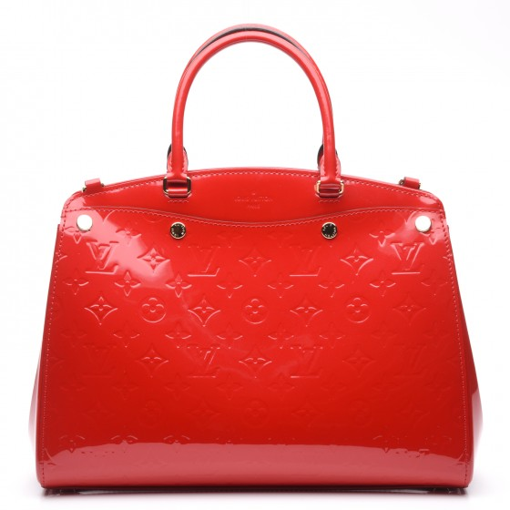 Louis Vuitton Vernis Brea MM NM Cerise Cherry