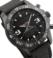 Breitling Chronospace Military Blacksteel Herrenuhr Analog Digital LCD Chronometer Herrenuhr M78367101B1W1 Box Papiere Garantie
