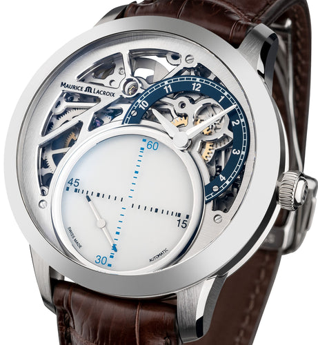 Maurice Lacroix Masterpiece Mysterious Seconds MP6558-SS001-094-2 Automatik Herrenuhr Limited 250 Stück Swiss Made Box Papiere 2 Jahre Garantie neu ovp.