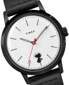 Timex Marlin Automatic Herrenuhr Charlie Brown Peanuts Snoopy Space Traveler TW2U12600 neu ovp. Box Papiere Grantie