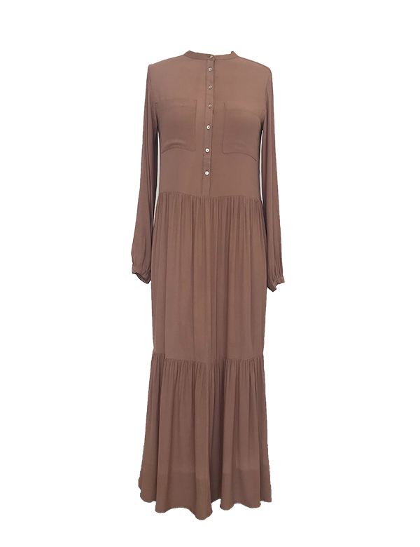 esmé studios Isla Maxi Dress Dress 077 Brownie