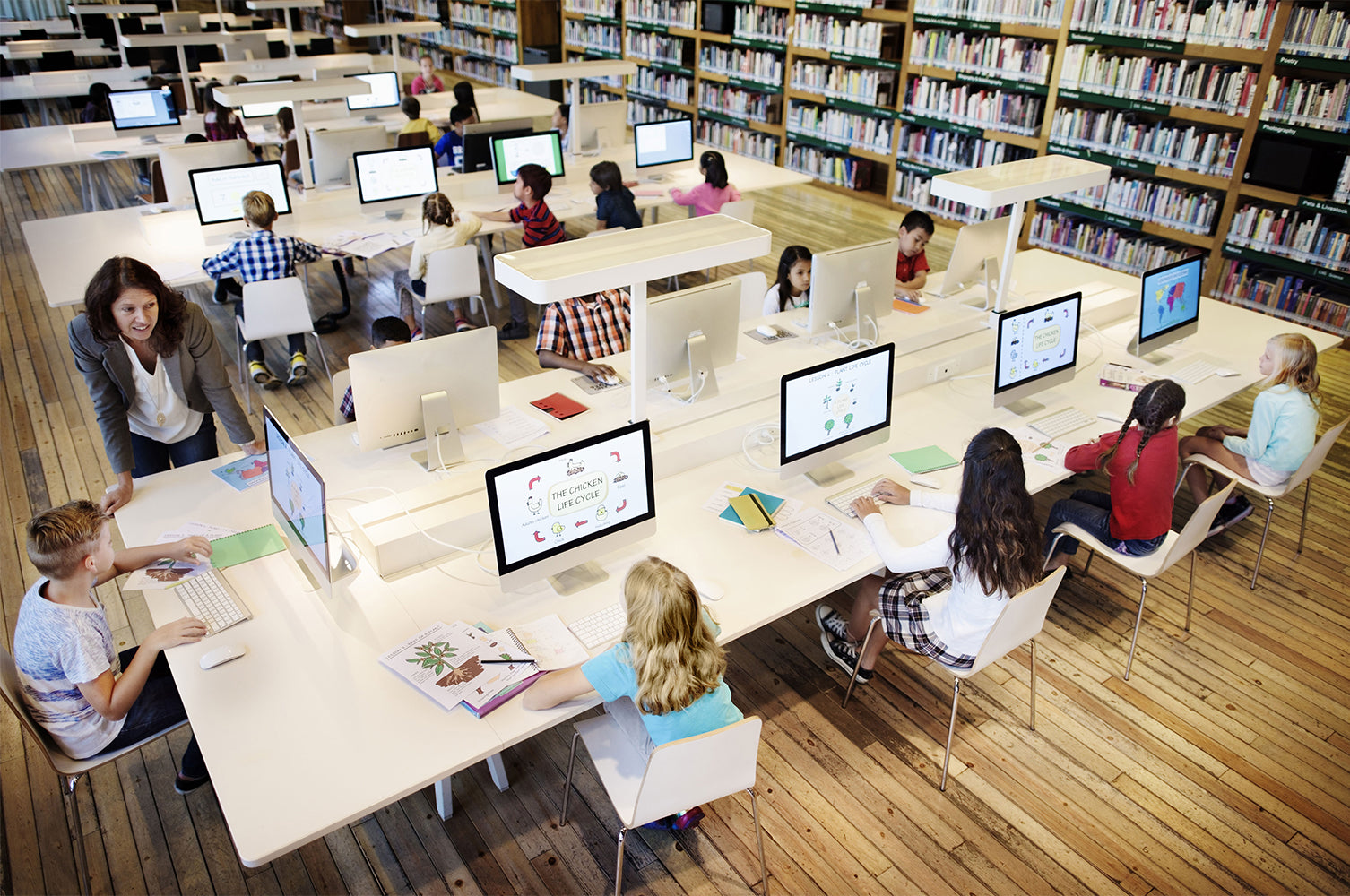 modern school library design