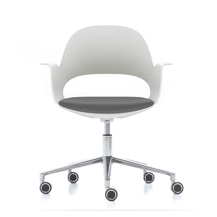 alava chair on silver castor base
