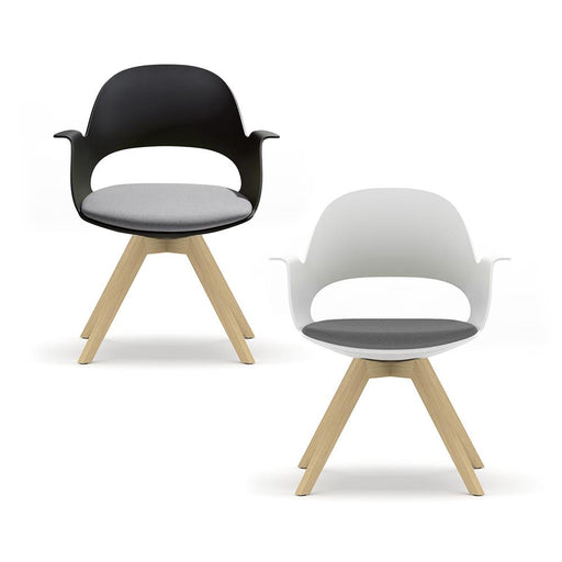 alava meeting and office chair on wooden base