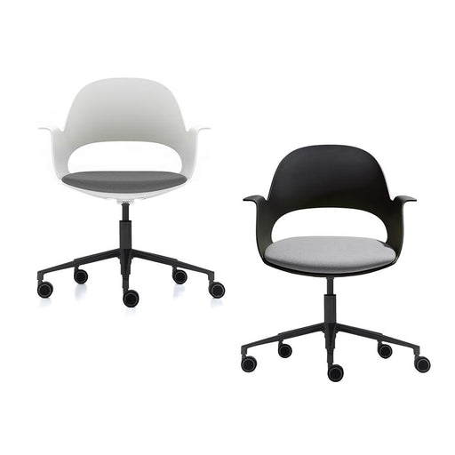 alava meeting chair on black castors