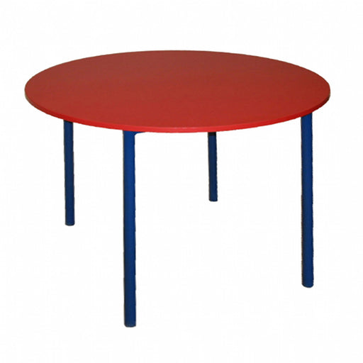 Red circle group table for the classroom