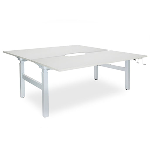 Elevate White 1500 User Adjust Shared Desk (650 - 1250mm)