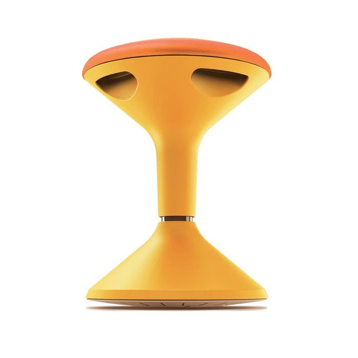 yellow height adjustable classroom stool