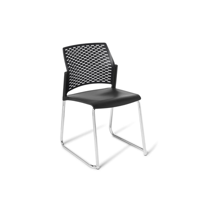 Punch Chrome Frame Sled Meeting Chair