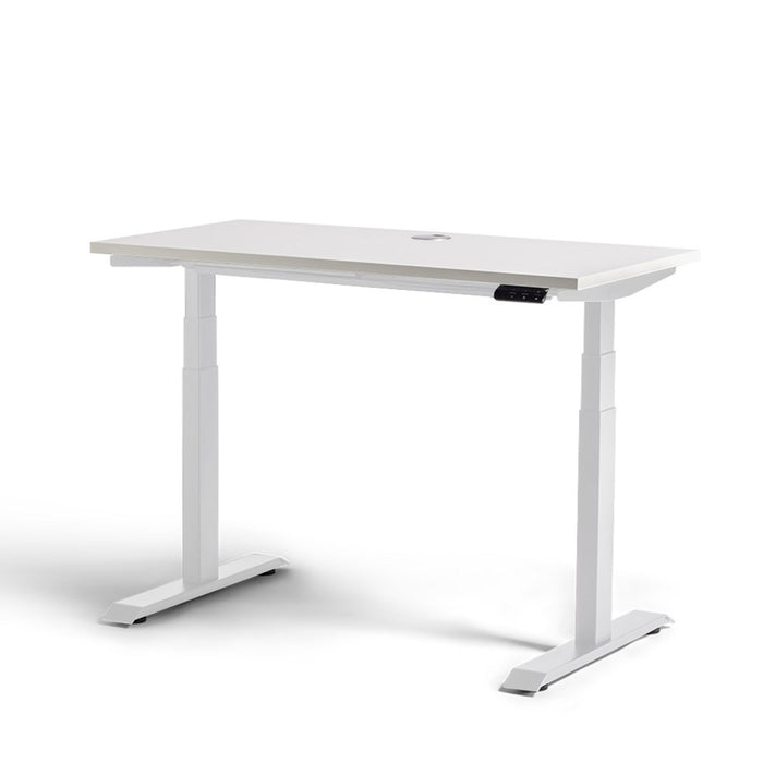 Mobel Rise Electric Height Adjustable Desk – White / White