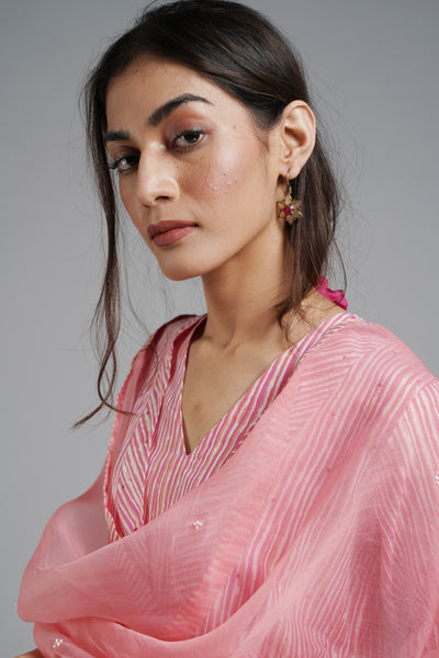 Stripe Me Up Dupatta - Peach