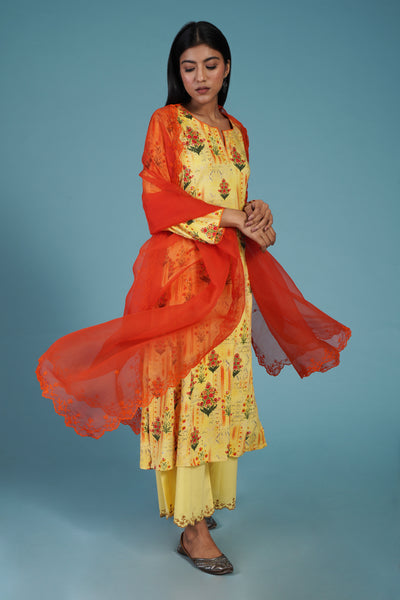 Tulsi Kurta Yellow