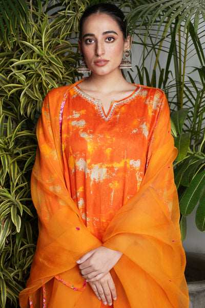 Tulsi Dupatta -Orange