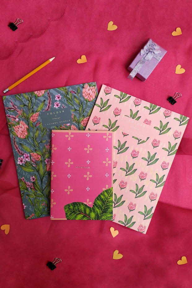 Folder & Notebooks (Set of 3)