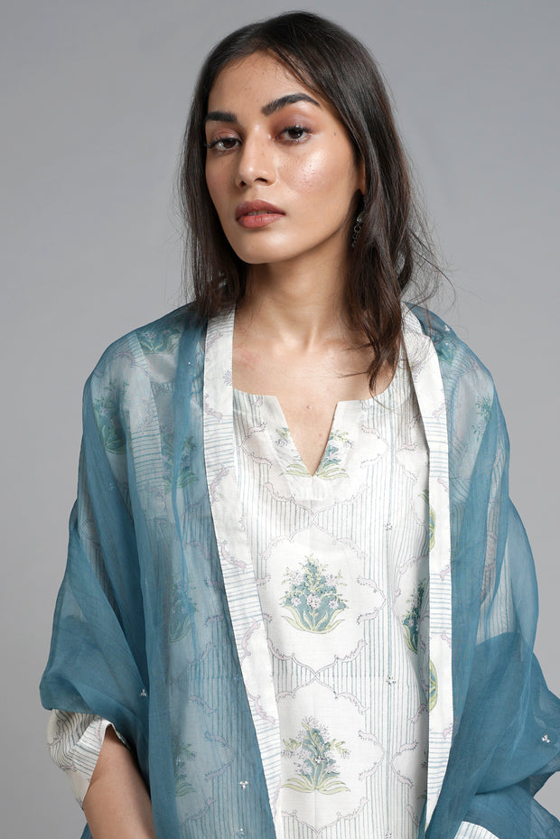 Aloha Choga Kurta - Cream (set of 2)