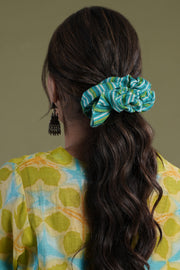 Scrunchy Grey Turquoise
