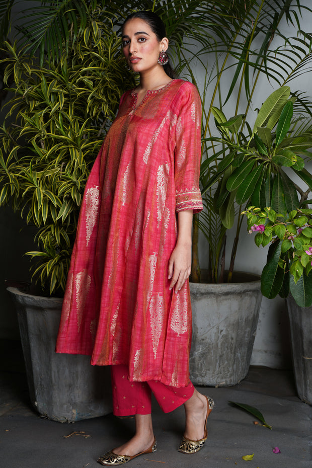 Tulsi Kurta (set of 2) - Dark Peach