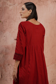 Iris Kurta Brick Red