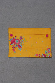 Embroidered Pouch Mustard