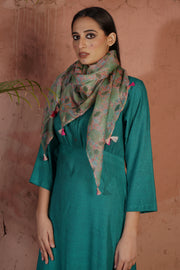 Sea Green Pink Stole