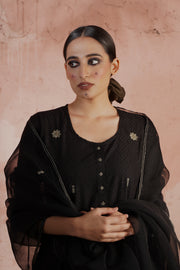 Tropical Dupatta Black