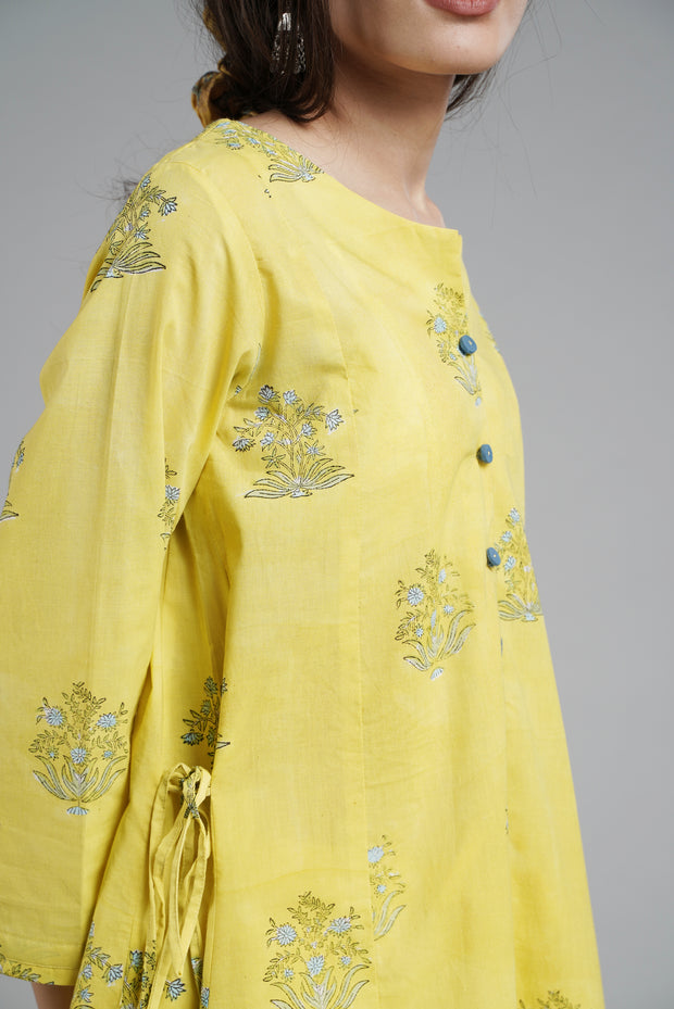 Sweetheart Kurta - Yellow
