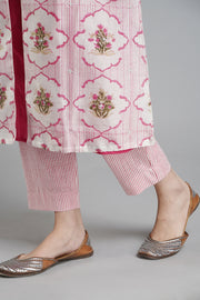 Striped Narrow Pants - Pink