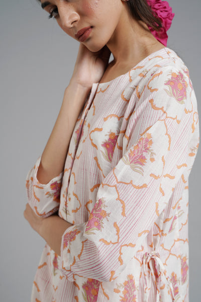 Sweetheart Kurta- Peach