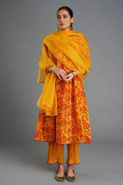 Tropical Kurta - Golden Yellow