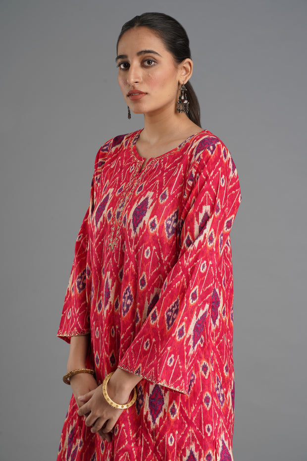 Tulsi Kurta - Cherry Red