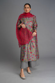 Baano Dupatta - Cherry Red