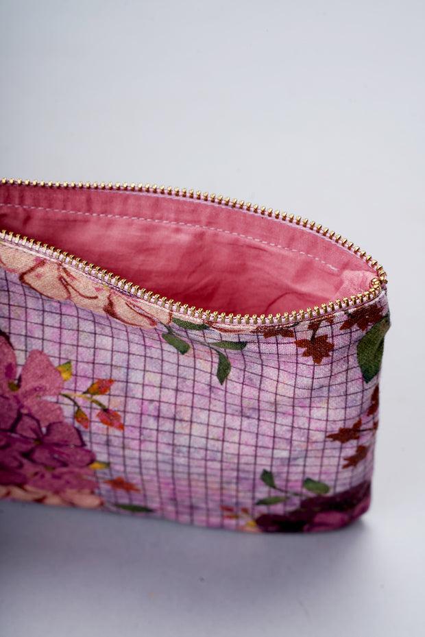 Floral Pouch- Burgundy